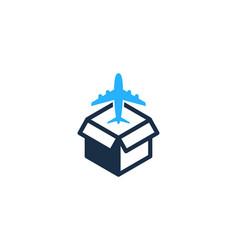 Travel box logo icon design vector