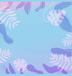 tropica leaves frame vector image