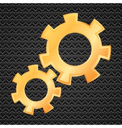 two gears vector image