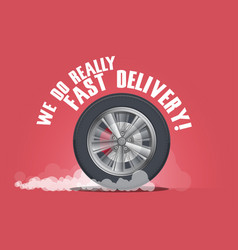 we do really fast delivery vector image