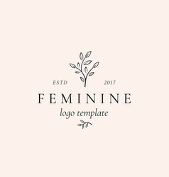 Abstract feminine sign symbol or logo vector