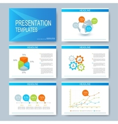 Blue set of templates for multipurpose vector image vector image