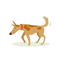 Brown Pet Dog Shuffling Away Disappointed Animal vector image vector image