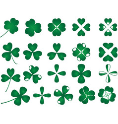Green clover collection vector image vector image
