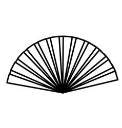 hand fan icon vector image vector image