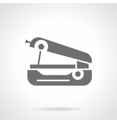 Hand sewing machine glyph style icon vector