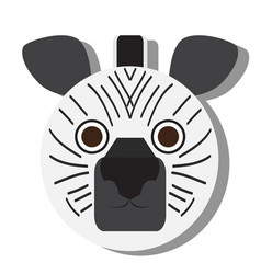 isolated zebra face vector image vector image