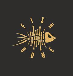 modern professional sign logo fish bone vector image