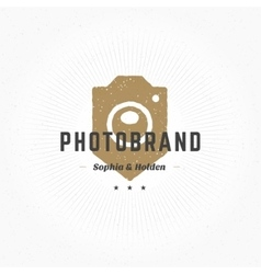 Photographer Logo Hand Drawn Template vector image