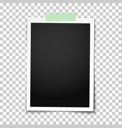 Realistic classic photo frame with straight edges vector
