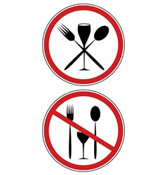sign of diet vector image vector image