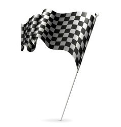 Waving flag checkered vector image vector image
