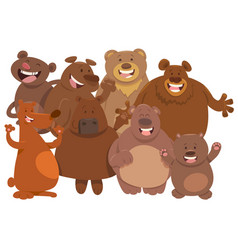 bears wild animal characters cartoon vector image vector image