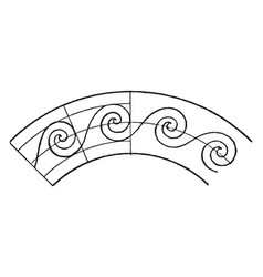 Circular evolute spiral is a wave pattern that vector