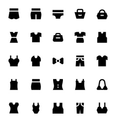 Clothes Apparel and Garments Icons 3 vector image