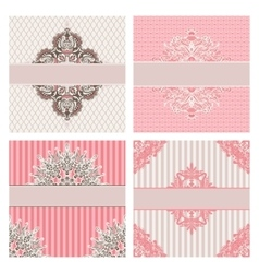 set of vintage invintation borders vector image vector image