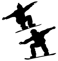 snoeboarder set vector image vector image