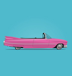 Cartoon styled of retro car vector