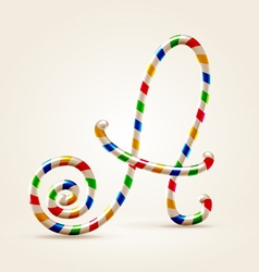 Circus wire plastic abc vector image vector image
