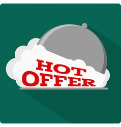 Hot offer flat icon vector image
