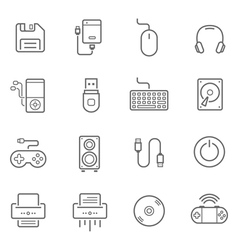 Lines icon set - devices accessory vector image vector image