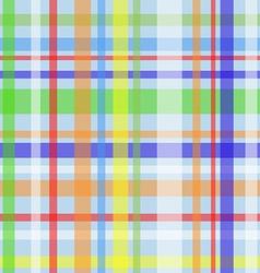 Seamless plaid pattern-blue vector image