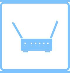 Wi-fi router icon vector