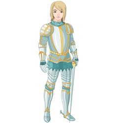young knight vector image vector image
