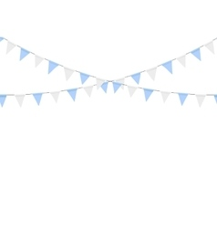 Buntings garlands isolated on white background vector image