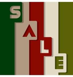 Christmas Sale Paper Folding Design vector image vector image