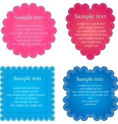 set of foru napkin vector image