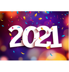 2021 new year happy party background vector image