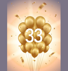 33rd year anniversary background vector