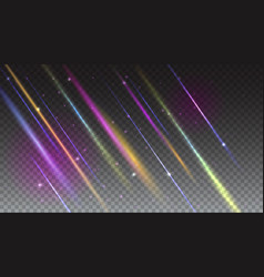 Abstract bright background with moving light rays vector