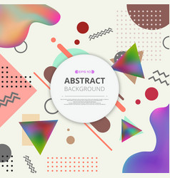 abstract of colorful pattern geometric background vector image