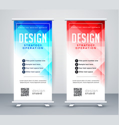 Abstract style business roll up banner template vector