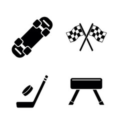activity sport games simple related icons vector image