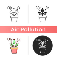 Air purifying plant icon vector