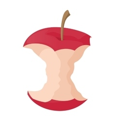 Apple stump icon cartoon style vector
