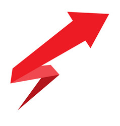 Arrow design for infographics red arrow on white vector