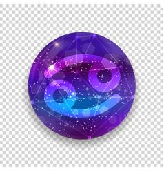 astrological symbol of cancer abstract shiny vector image