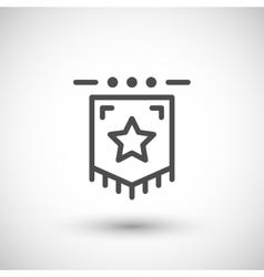 Award flag line icon vector