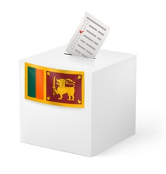 Ballot box with voting paper Sri Lanka vector