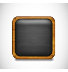 Black app icon vector image