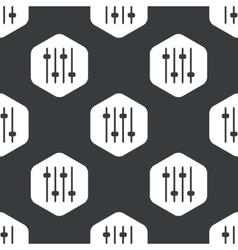 Black hexagon faders pattern vector image