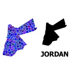 Blue circle mosaic map jordan vector
