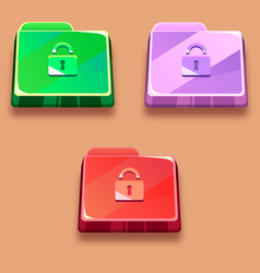 Bright antivirus icon folder protection vector