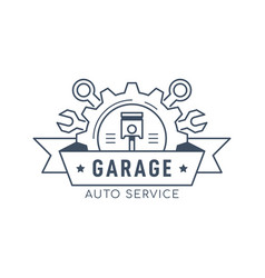 car service and repair badge design stock vector image