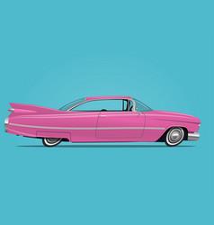 cartoon styled pink car vector image