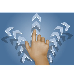 choice human hand and arrows vector image